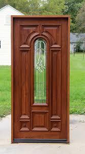 exterior mahogany single doors