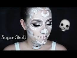 white sugar skull makeup tutorial 2016