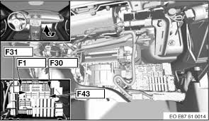 2006 bmw 330xi fuse number of the cigarette lighter other side of the fuse chart this should show you the location of the fuses the picture on the card is a cirlcle a line in it see diagram below