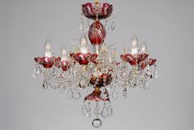 ch 06 galaxy red se a small red crystal chandelier