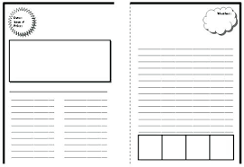 Amazing Newspaper Templates Sample Best Photos Of Fill Blank Front ...