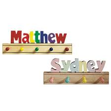 Name Coat Rack Adorable Kids Puzzle Name Coat Rack Kids Puzzles Babies And Nursery