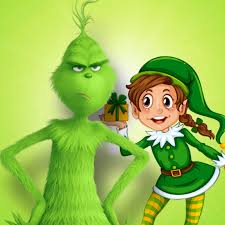 Doorstep visit with the Grinch and Tess the twinkling Elf - Posts | Facebook