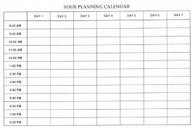 Weekly Blank Schedule Rome Fontanacountryinn Com