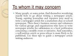Writing A Newspaper Article How To Write A Good Newspaper Article