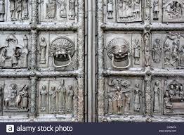 Medieval Doors medieval bronze doors on western portal of saint sophia cathedral 1616 by xevi.us