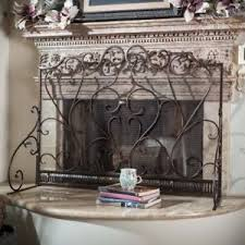 iron fireplace screen. Image Is Loading Visalia-Iron-Fireplace-Screen-Bronze Iron Fireplace Screen P