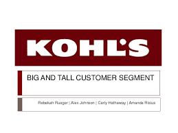 Kohls Mens Size Chart Kohls Big And Tall Marketing Proposal