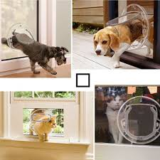 details about 4 way locking pet door for glass window cat dog flap small pet door au ship