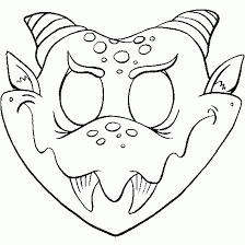 Small Picture Halloween mask coloring pages wwwbloomscentercom