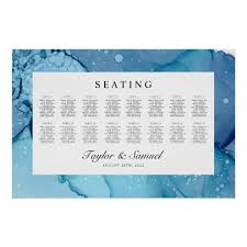 Wave Seating Chart Ethereal Wave Wedding Seating Chart V07