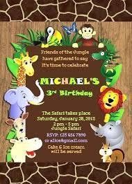 Safari Party Invitations Jungle Theme Birthday Invitation Template Arianet Co