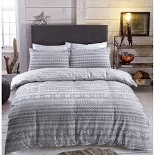 fairisle grey duvet set reversible brushed cotton bedding king size 264802 p5536 15264 image jpg