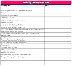 Wedding Planner Excel Spreadsheet Free Wedding Planner Checklist