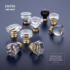 crystal cabinet hardware. Delighful Hardware Emteku0027s Crystal Cabinet Knobs With Satin Brass Finish Details These Would  Look Stunning On A Bathroom Vanity Or Kitchen Cabinet In Crystal Cabinet Hardware R