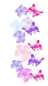 Butterflies and Flowers Decoration PNG ...