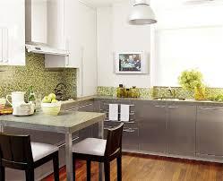 view full size gray green modern kitchen