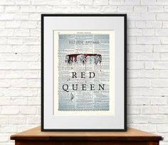 red queen by victoria aveyard book cover art print