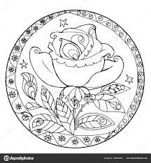 Een Gestileerde Roos In De Cirkel Stockvector Snowkat 185222698