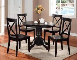 4 Piece Dining Room Sets F Black Stained Mahogany Wood Table Legs For Dining Table With