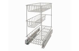 wide three tier compact kitchen cabinet pull out basket
