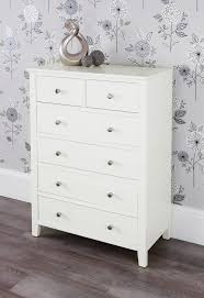 Tall Bedroom Chest Of Drawers Brooklyn Ivory White Bedroom Furniturechest Of Drawers Bedside