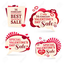 sets badges stickers for valentines day promotion notice of s s