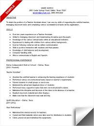Gallery Of Teacher Assistant Resume Sample What A Great Idea