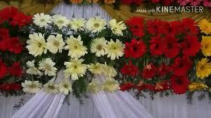 Wedding Flowers Decoration Marriage Wedding Flowers Stage Decoration Videos Youtube