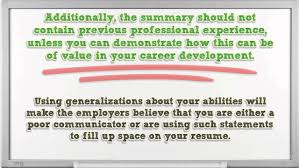 How To Write A Professional Summary For Your Resume Resume Reviews