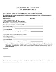 Gpa Equivalency Chart 2002 2003 Fellowships Com