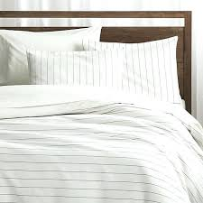 crate and barrel bedding bedroom chandler pinstripe duvet covers pillow shams intended for cover inspirations 1