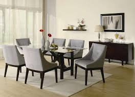 engaging dining room decoration using glass top dining table design excellent dining room decoration using
