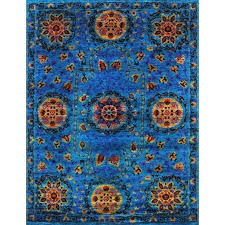 sari silk rug pink hand knotted blue area sari silk rugs