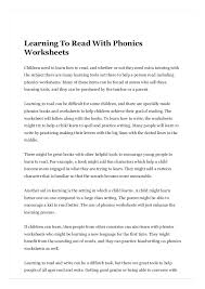 Printable phonics worksheets for esl young learners, phonics a to z. Learning To Read With Phonics Worksheets