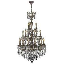 versailles collection 21 light antique bronze crystal chandelier