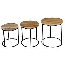 side tables timber side table metal round amazing 3 piece and set home interior bedside