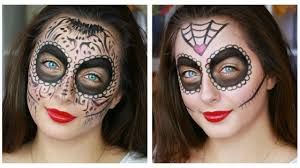 2 easy sugar skull makeup tutorials