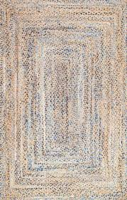 farmhouse style rugs. Farmhouse Style Area Rugs For Your Home DESTRIE H-BRAIDED BLUE AREA RUG #affiliate