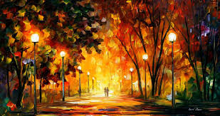 Canvas Painting Glowing Music Palette Knife Oil Painting On Large Canvas By