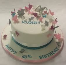 Pink White And Turquoise Trailing Butterfly Cake Girls Birthday