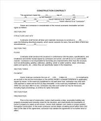 with material construction agreement 8 construction contract template considering basic elements and making