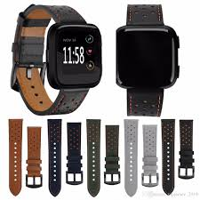 2019 high quality genuine leather wristband replacement wrist band strap for fitbit versa wrist band strap wristband watch belt 344622 from topjersey 2019