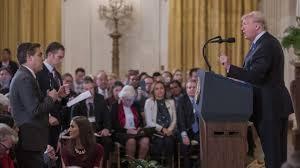 Αποτέλεσμα εικόνας για τραμπ εναντιων δημοσιογραφου
