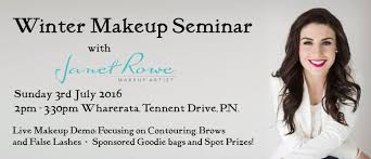 winter makeup seminar janet rowe makeup artist palmerston north eventfinda