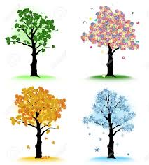 Four Royalty Vectors For Stock Seasons Summer Autumn And 15712217 - Free Spring Design Image Art Your Illustration Cliparts Tree