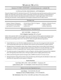 Resume Template For Lawyers