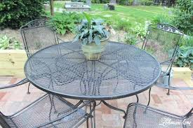 how to paint wrought iron furniture spray paint patio furniture for brick patio how do you