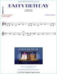 Happy Birthday Clarinet Sheet Music