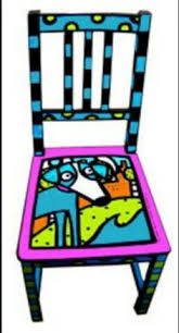 colorful painted furniture. Simple Colorful Hand Painted Chair Hannah I Want You To Paint A Chair For Me For Colorful Furniture